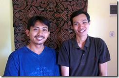 Master Batik artist Abdul Syukur and Yogjakarta artist