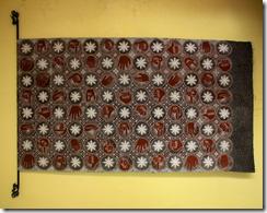 Abdul Syukur 'Human Diplomatic Art' primishima cotton 105 x 105cm 2012
