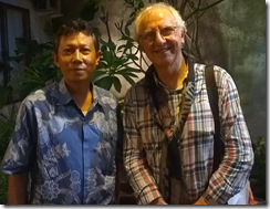 Director of Pekalongan Batik Centre Pak Zahir and Tony Dyer