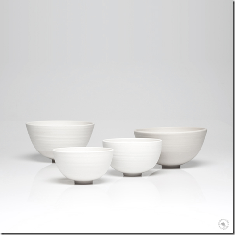 Series of hand-thrown bowls by Andrew Widdis