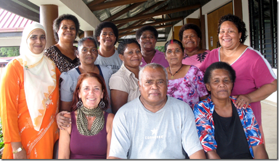 Ilse-Marie Erl with her team in Fiji