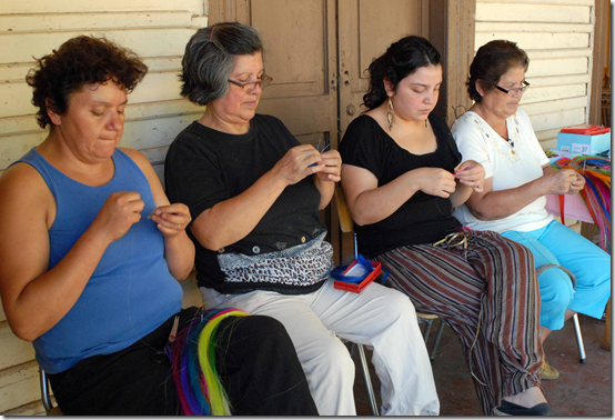 Women crin weavers from Rari