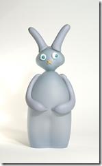 Tegan Empson, 2007, Brown Bunny (h 53.4 cm, x d:16.5 cm x w 15 cm) and Grey Bunny (h:50 cm, d x 14.5 cm x w 19 cm).