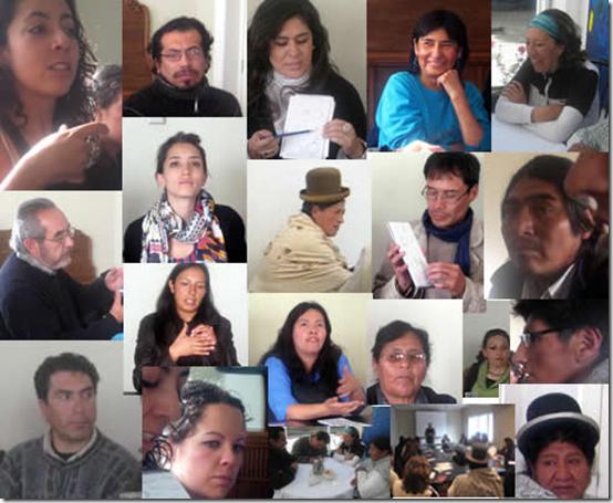 Workshop participants in La Paz