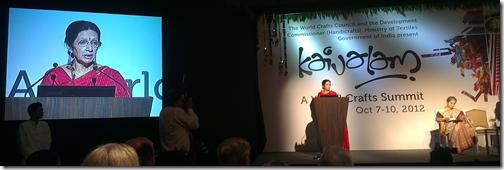 Mrs Usha Krishna opening Kaivalam